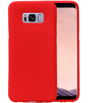Rood Zand TPU back case cover voor Hoesje voor Samsung Galaxy S8