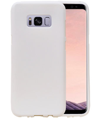 Wit Zand TPU back case cover hoesje voor Samsung Galaxy S8