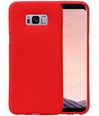 Rood Zand TPU back case cover voor Hoesje voor Samsung Galaxy S8+ Plus