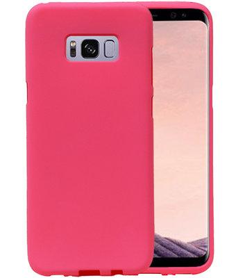 Roze Zand TPU back case cover voor Hoesje voor Samsung Galaxy S8+ Plus