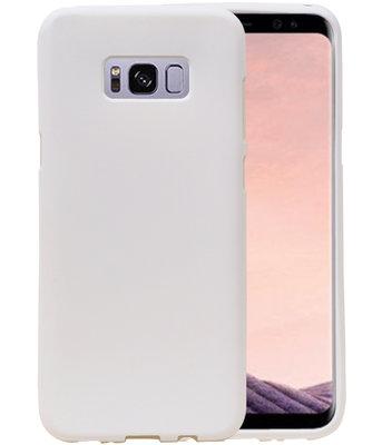 Wit Zand TPU back case cover voor Hoesje voor Samsung Galaxy S8+ Plus