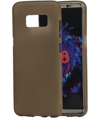 Hoesje voor Samsung Galaxy S8 TPU back case transparant Grijs
