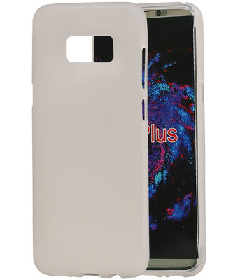 Hoesje voor Samsung Galaxy S8+ Plus TPU back case transparant Wit