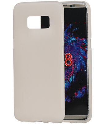 Samsung Galaxy S8 TPU back case hoesje transparant Wit