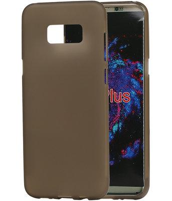 Hoesje voor Samsung Galaxy S8+ Plus TPU back case transparant Grijs