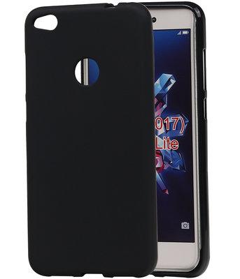 Hoesje voor Huawei P8 Lite 2017 / P9 Lite 2017 TPU back case Zwart