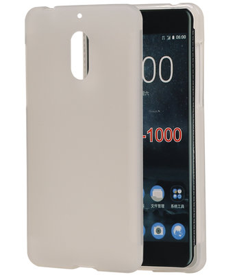 Hoesje voor Nokia 6 TPU back case transparant Wit