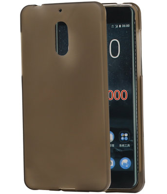 Hoesje voor Nokia 6 TPU back case transparant Grijs