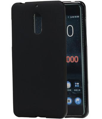 Hoesje voor Nokia 6 TPU back case Zwart