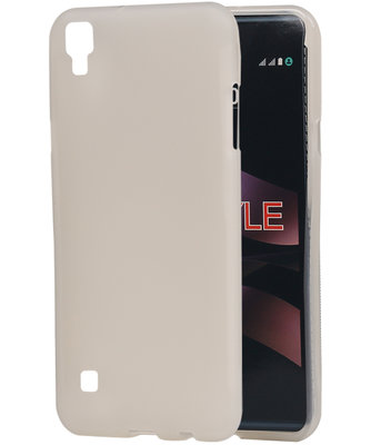 Hoesje voor LG X Style K200 TPU back case transparant Wit
