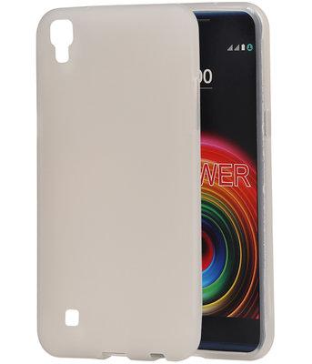 Hoesje voor LG X Power K220 TPU back case transparant Wit