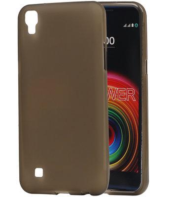 Hoesje voor LG X Power K220 TPU back case transparant Grijs