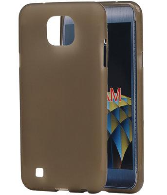 LG X Cam K580 TPU back case hoesje transparant Grijs