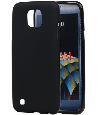 Hoesje voor LG X Cam K580 TPU back case Zwart