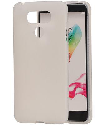 LG G6 TPU back case hoesje transparant Wit