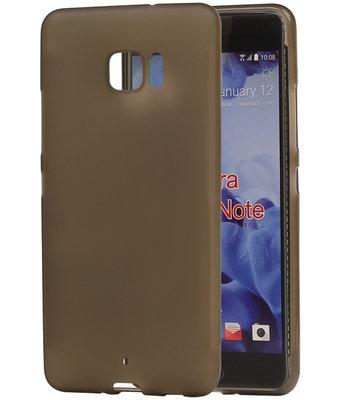 HTC U Ultra TPU back case hoesje transparant Grijs