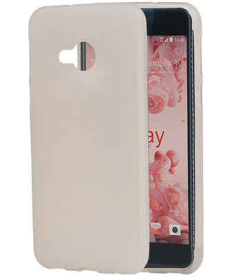 HTC U Play TPU back case hoesje transparant Wit