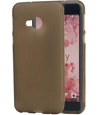 Hoesje voor HTC U Play TPU back case transparant Grijs