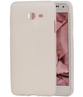 Hoesje voor Samsung Galaxy J5 2017 TPU back case transparant Wit
