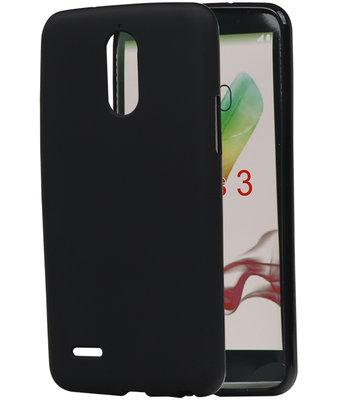 Hoesje voor LG Stylus 3 TPU back case Zwart