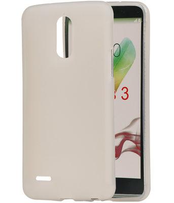 Hoesje voor LG Stylus 3 TPU back case transparant Wit