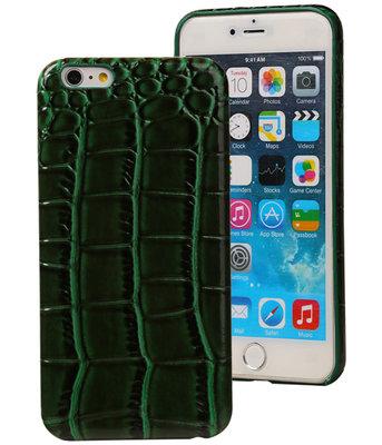 Groen Krokodil TPU back cover case hoesje voor Apple iPhone 6 Plus / 6S Plus