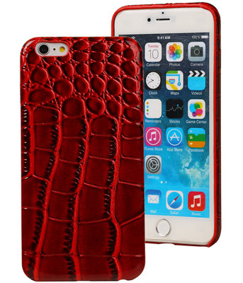 Rood Krokodil TPU back cover case voor Hoesje voor Apple iPhone 6 Plus / 6S Plus