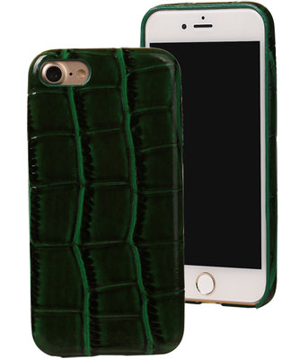 Groen Krokodil TPU back cover case hoesje voor Apple iPhone 7 / 8
