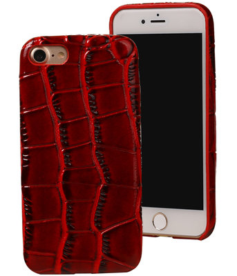 Rood Krokodil TPU back cover case voor Hoesje voor Apple iPhone 7 / 8