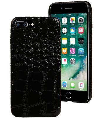 Zwart Krokodil TPU hoesje Apple iPhone 7 Plus / 8 Plus