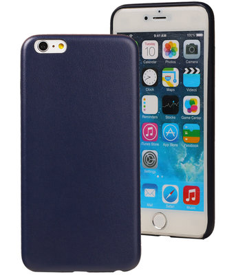 Blauw Leder Design TPU Hoesje voor Apple iPhone 7 Plus / 8 Plus