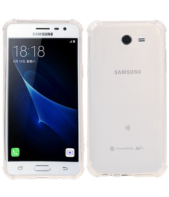 Transparant TPU Schokbestendig bumper case Hoesje voor Samsung Galaxy J3 2017