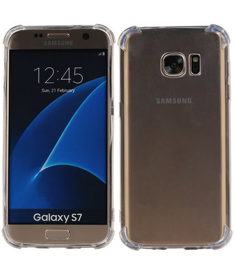 Transparant TPU Schokbestendig bumper case Hoesje voor Samsung Galaxy S7
