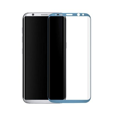 Blauw Samsung Galaxy S8 Tempered Glass Screen Protector