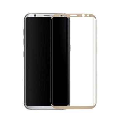 Goud Samsung Galaxy S8 Tempered Glass Screen Protector