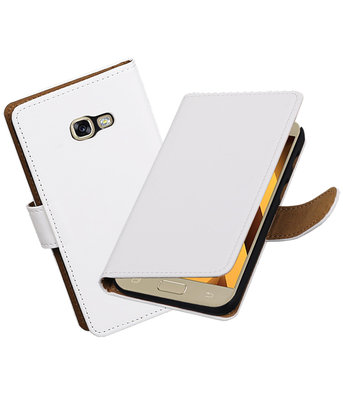 Wit Effen booktype wallet cover hoesje Samsung Galaxy A5 2017