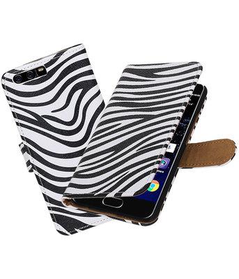 Zebra booktype wallet cover Hoesje voor Huawei P10