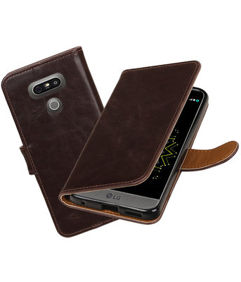Mocca Pull-Up PU booktype wallet cover hoesje LG G6