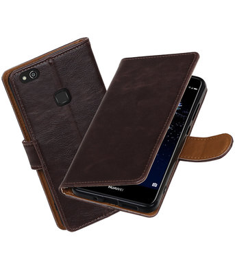 Mocca Pull-Up PU booktype wallet cover hoesje Huawei P10 Lite