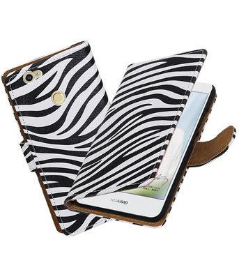 Zebra booktype voor Hoesje voor Huawei Nova