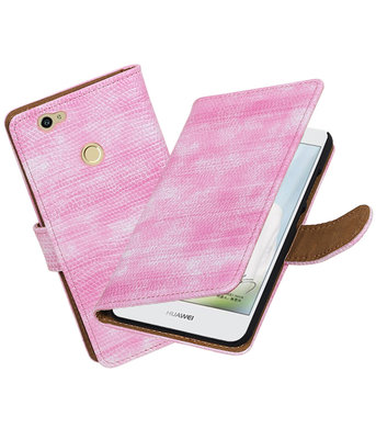 Roze Mini Slang booktype voor Hoesje voor Huawei Nova