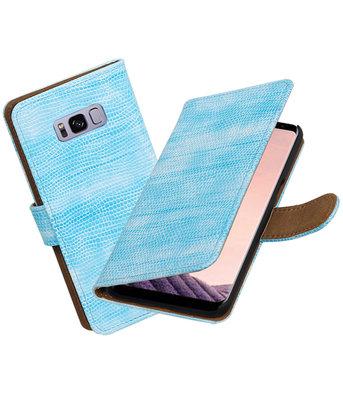 Hoesje voor Samsung Galaxy S8 Mini Slang booktype Turquoise