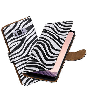 Hoesje voor Samsung Galaxy S8 Zebra booktype