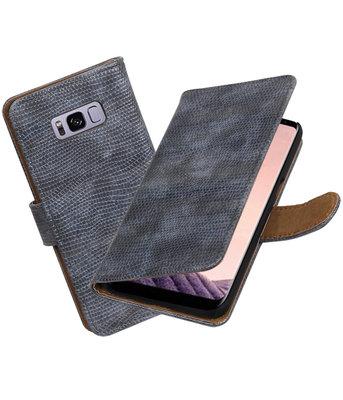 Hoesje voor Samsung Galaxy S8+ Plus Mini Slang booktype Grijs