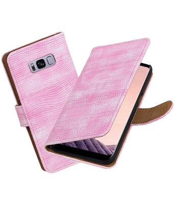 Hoesje voor Samsung Galaxy S8+ Plus Mini Slang booktype Roze