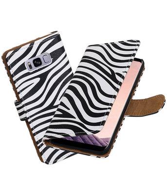 Hoesje voor Samsung Galaxy S8+ Plus Zebra booktype