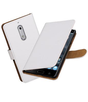 Hoesje voor Nokia 5 Effen booktype Wit