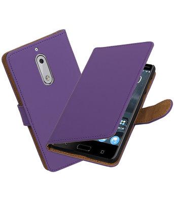 Hoesje voor Nokia 5 Effen booktype Paars