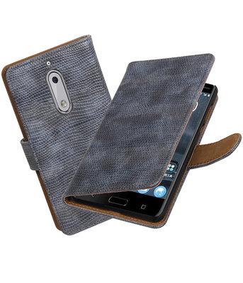 Hoesje voor Nokia 5 Mini Slang booktype Grijs