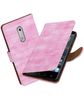 Hoesje voor Nokia 5 Mini Slang booktype Roze